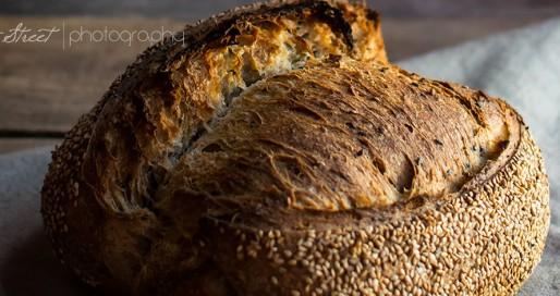 Pan de tres sésamos